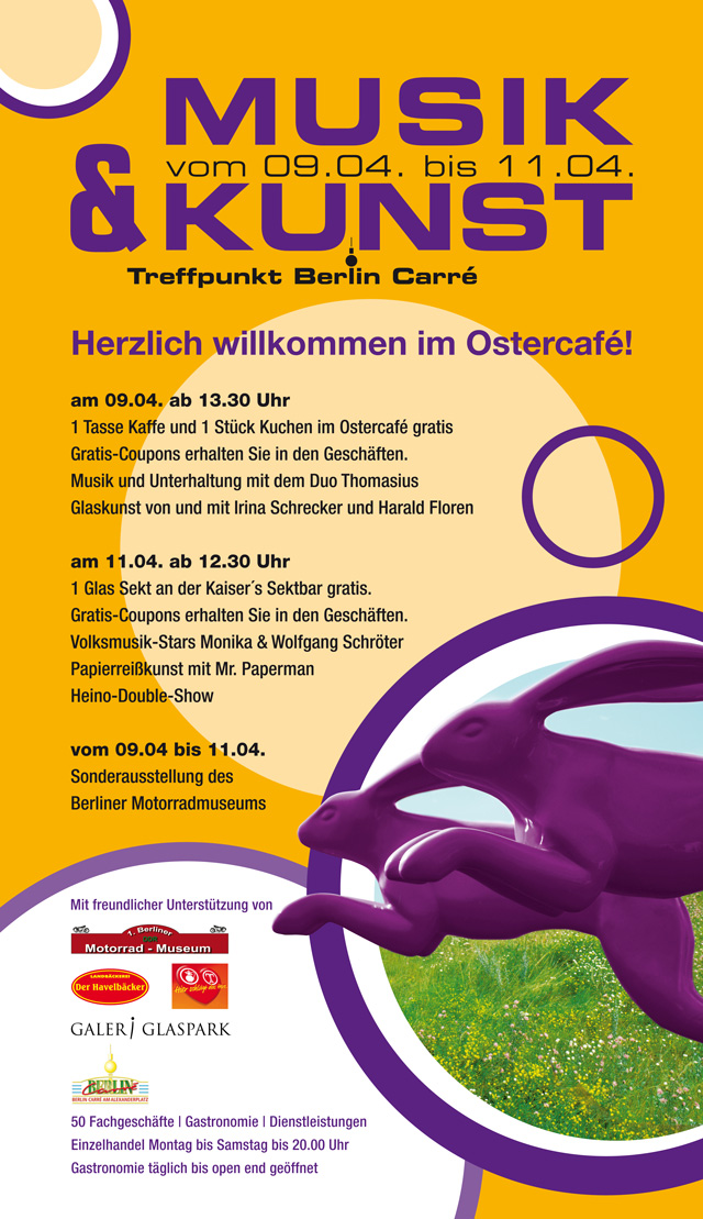 Plakat Ostern B Carre